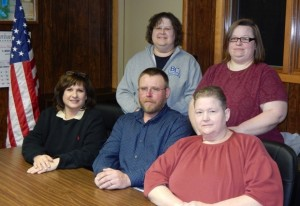 Left to Right Front Trustee- Gina Fox Trustee- David Allen Supervisor- Roxann Flake Back row L to R Treasurer- Renee Elder Clerk - Stacy Simon